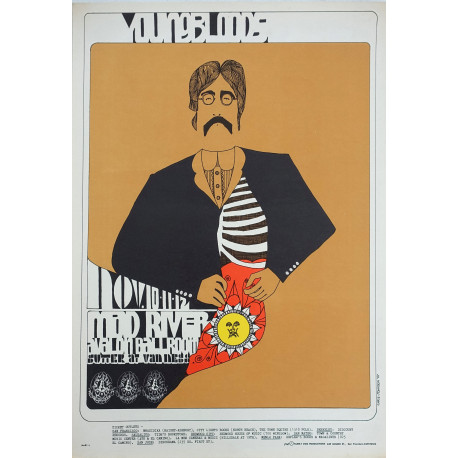 1967 Concert Poster feat. The Youngbloods & Mad River Music Poster at the Avalon Ballroom - Original Vintage Poster