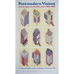 1987 Postmodern Visions - Contemporary architecture 1960-1985 - Original Vintage Poster