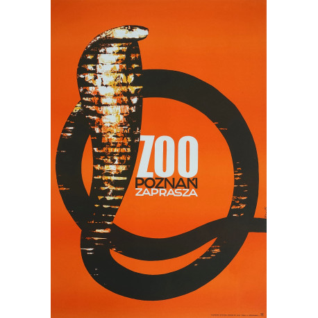 1972 Zoo Poznan King Cobra - Original Vintage Poster