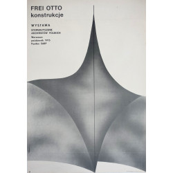 1975 Frei Otto Architectural Constructions - Original Vintage Poster