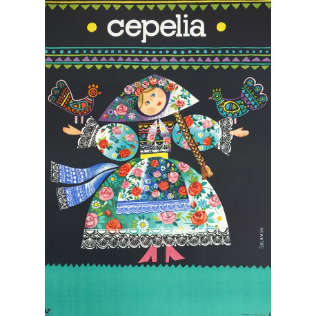 1980 Cepelia Polish Arts & Crafts Advertisement - Original Vintage Poster