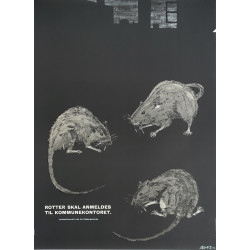 1962 Fight off the Rats! Fight Pest Campaign Poster - Original Vintage Poster