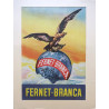 1950s Fernet Branca Advertisement - Original Vintage Poster