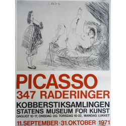 1971 Picasso Erotic Art Exhibition Poster - Original Vintage Poster