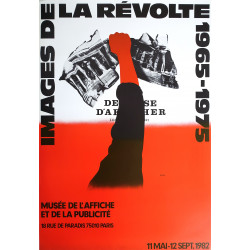 1982 Revolt Pictures Exhibition - Images de la Révolte by Razzia - Original Vintage Poster