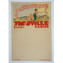 1933 Trouville Beach Casino French Travel Poster - Original Vintage Poster