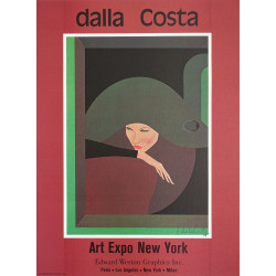 1978 Art Expo New York signed by Amleto Dalla Costa - Original Vintage Poster