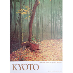 1980s Kyoto Travel Poster Bamboo - Original Vintage Poster