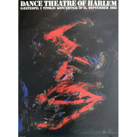1985 Dance Theatre of Harlem in Tivoli Gardens - Original Vintage Poster