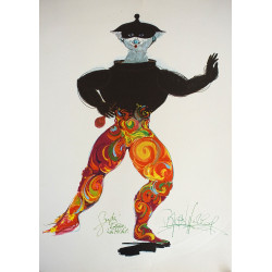 1970s Dancer by Bjørn Wiinblad - Original Vintage Poster