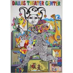 1979 Bjørn Wiinblad Artwork for Dallas Theater Centre - Original Vintage Poster