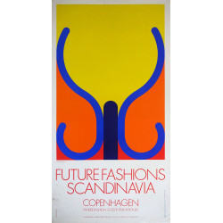 1980s Danish Fashion Fair by Arnoldi - Original Vintage Poster