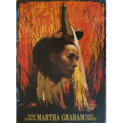 1985 Martha Graham by Trampedach - Original Vintage Poster