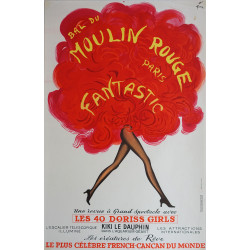1970 Moulin Rouge Paris Fantastic - Original Vintage Poster