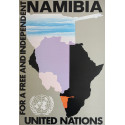 1980s United Nations Free Namibia - Original Vintage Poster