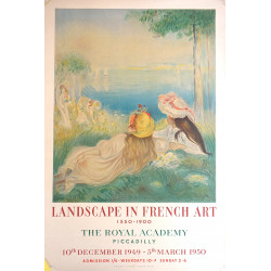 1949 Renior Landscape In French Art Exhibition at The Royal Academy - Original Vintage Poster