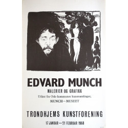 1968 Edward Munch Exhibition Poster - Original Vintage Poster
