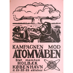 1960 Anti-nuclear Movement Campaign Poster - Original Vintage Poster