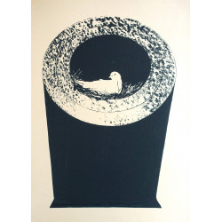 1960s Peace Dove in Canon - Original Vintage Poster