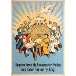 1951 International Peace Poster - Original Vintage Poster
