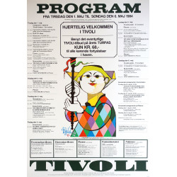 1981 Tivoli Gardens Program by Bjørn Wiinblad - Original Vintage Poster