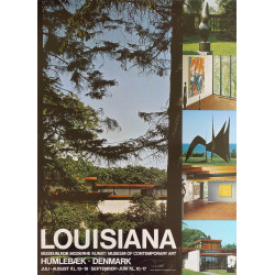 1980s Louisiana Museum of Modern Art Advertisment - Original Vintage Poster