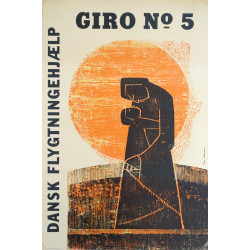 1960s Danish Refugee Council Campaign Poster - Original Vintage Poster