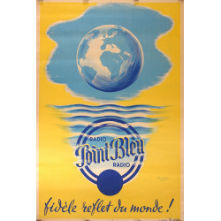 1949 French Radio Advertisement Point Bleu - Original Vintage Poster