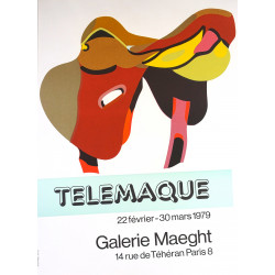 1979 Telemarque Exhibition at Galerie Maeght En selle - Original Vintage Poster