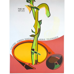 1982 FIAC at Galerie Maeght by Télémaque - Original Vintage Poster