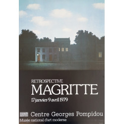 1979 Magritte Exhibition at Pompidou - Original Vintage Poster