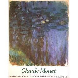 1993 Monet at Louisiana Museum of Modern Art II - Original Vintage Poster