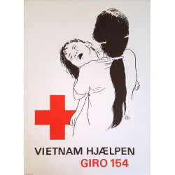 1960s Vietnam War Red Cross Campaign Poster - Original Vintage Poster