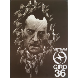 1969 Anti-Vietnam War Nixon Face - Original Vintage Poster