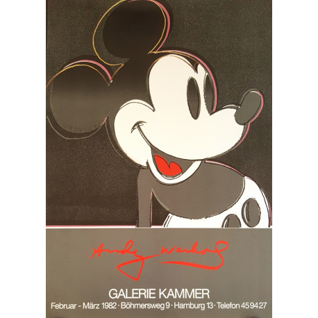 1982 Warhol Mickey Mouse at Galerie Kammer - Original Vintage Poster