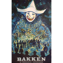 1965 Bakken in Wonderful Copenhagen by Henrik Bloch - Original Vintage Poster
