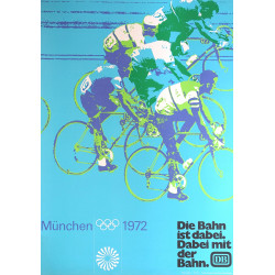 1972 Summer Olympics Munich Cycling - Original Vintage Poster