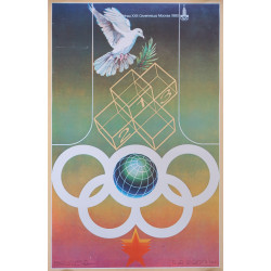 1980 Summer Olympics Moscow Dove - Original Vintage Poster