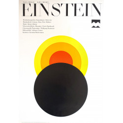1981 Einstein East German stage play - Original Vintage Poster