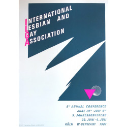 International Lesbian, Gay, Bisexual, Trans and Intersex Association - Original Vintage Poster