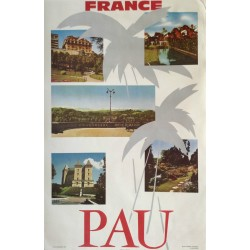 1960s Pau France Travel Poster - Original Vintage Poster