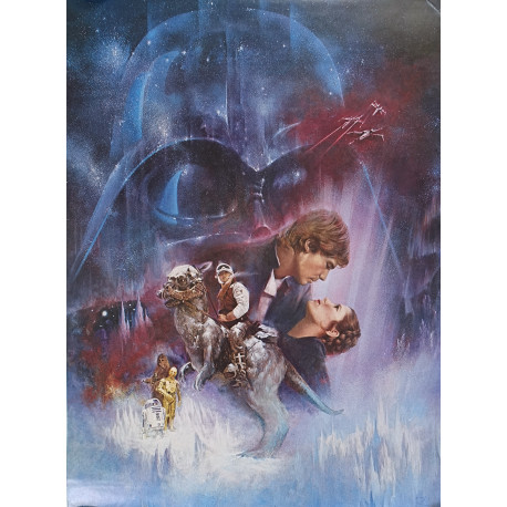"""1980 Star Wars """"Gone With The Wind Style"""" Movie Poster - Original Vintage Poster"""