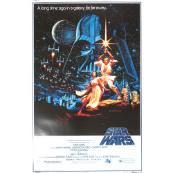 "1980 Star Wars ""Gone With The Wind Style"" Movie Poster - Original Vintage Poster"
