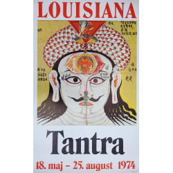 1974 Tantra at Louisiana Museum of Modern Art - Original Vintage Poster