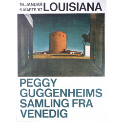 1967 Peggy Guggenheim Art Exhibition Louisiana Poster - Original Vintage Poster