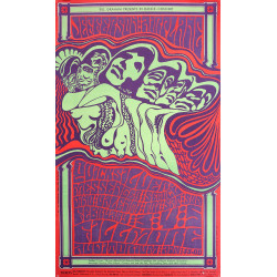 1967 Jefferson Airplane Concert Poster Fillmore - Original Vintage Poster