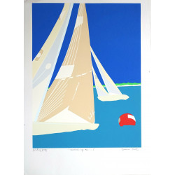 1987 America's Cup Race VIII signed by Franco Costa - Original Vintage Poster