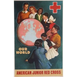 1945 American Junior Red Cross - Original Vintage Poster