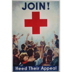 1938 Red Cross Campaign Poster - Original Vintage Poster