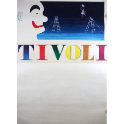 1960 Tivoli Gardens Poster Layout by Helge Refn - Original Vintage Poster